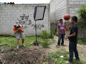 Chris shooting photos in Guatemala